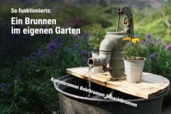 So errichten Sie einen Brunnen im eigenen Garten.