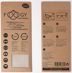 FOOGY – Das Antibeschlag- und Reinigungstuch gegen beschlagen Brillengläser